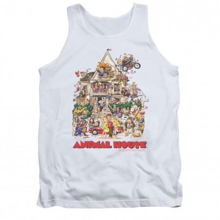 Animal House Poster Art White Tank Top