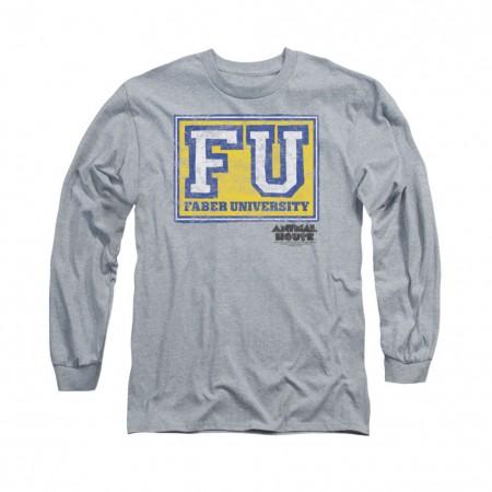 Animal House Faber University Gray Long Sleeve T-Shirt