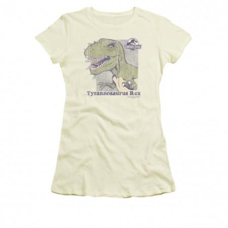 Jurassic Park Juniors Cream Retro Rex T-Shirt