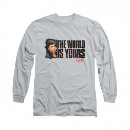 Scarface The World Is Yours Gray Long Sleeve T-Shirt