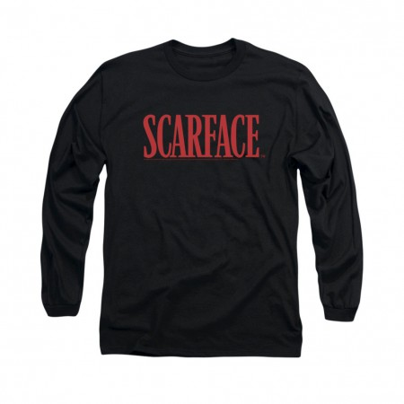 Scarface Logo Black Long Sleeve T-Shirt