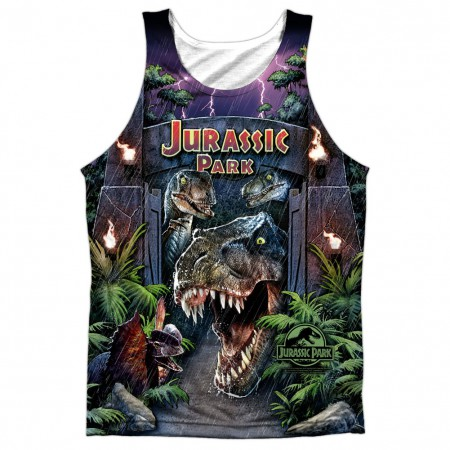 Jurassic Park Welcome Art Sublimation Tank Top