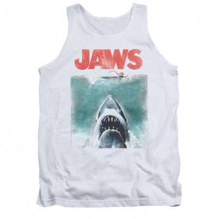 Jaws Vintage Poster White Tank Top