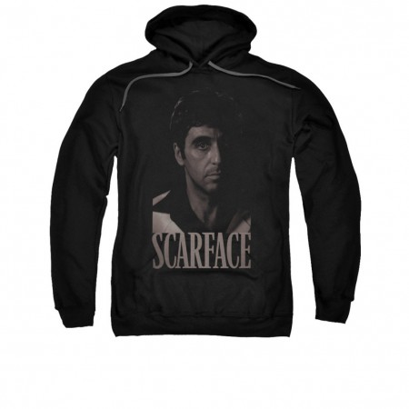 Scarface Men's Black And White Tony Black Pullover Hoodie