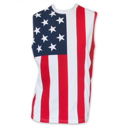 USA Patriotic Men's Flag Tank Top