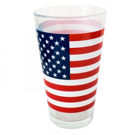 American Flag Pint Glass