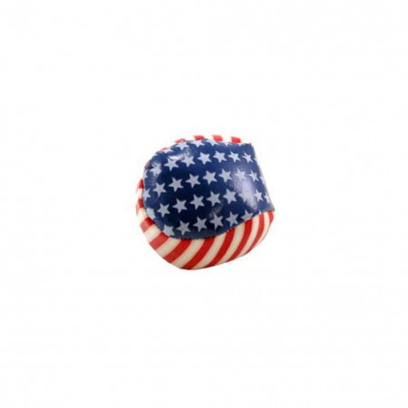 Patriotic USA American Flag Stars Stripes Kick Ball