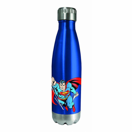 Superman Character and Symbol Stainless Water Bottle
