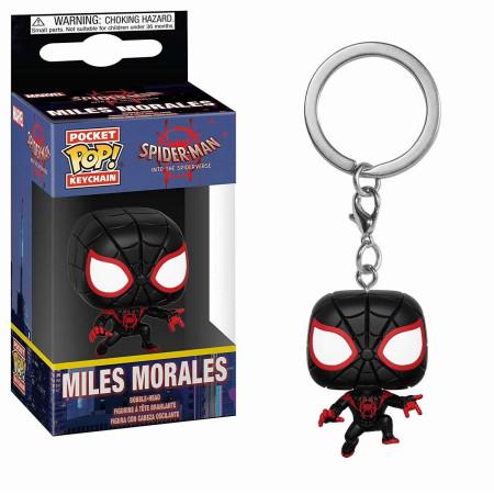 Spider-man Miles Morales Funko Pop Pocket Keychain