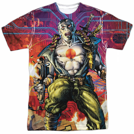 Bloodshot Cyber War Front and Back Print T-Shirt