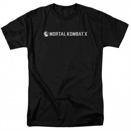 Mortal Kombat X Horizontal Logo Black T-Shirt