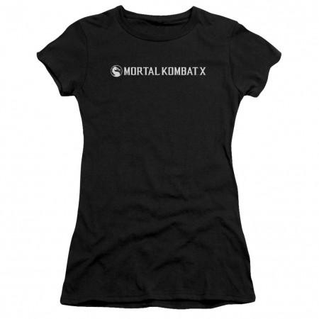 Mortal Kombat X Horizontal Logo Black Juniors T-Shirt