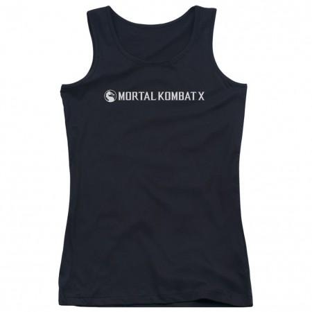 Mortal Kombat X Horizontal Logo Black Juniors Tank Top