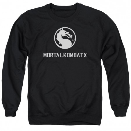 Mortal Kombat X Dragon Logo Black Crew Neck Sweatshirt