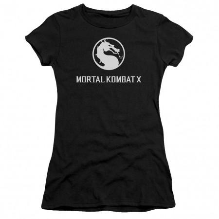 Mortal Kombat X Dragon Logo Black Juniors T-Shirt