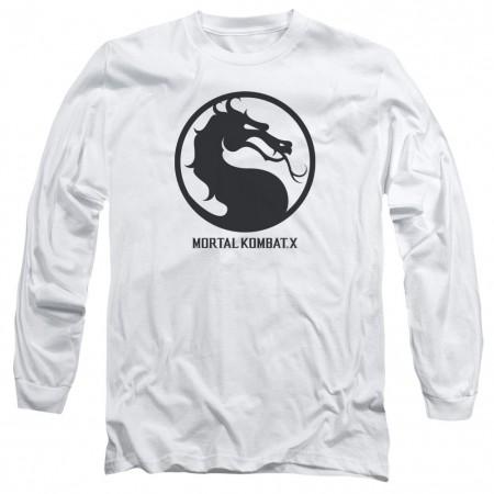 Mortal Kombat X Seal White Long Sleeve T-Shirt