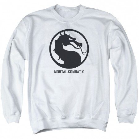 Mortal Kombat X Seal White Crew Neck Sweatshirt
