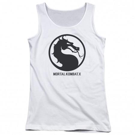 Mortal Kombat X Seal White Juniors Tank Top