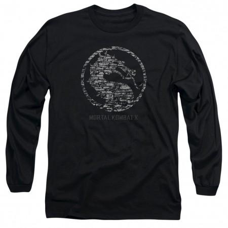 Mortal Kombat X Stone Seal Black Long Sleeve T-Shirt