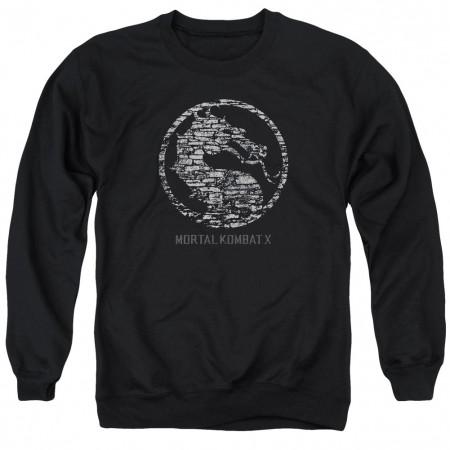 Mortal Kombat X Stone Seal Black Crew Neck Sweatshirt