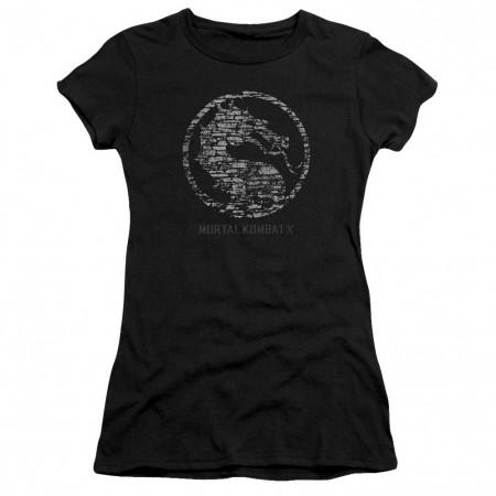 Mortal Kombat X Stone Seal Black Juniors T-Shirt