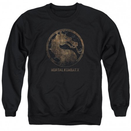 Mortal Kombat X Metal Seal Black Crew Neck Sweatshirt