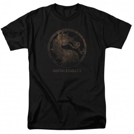 Mortal Kombat X Metal Seal Black T-Shirt