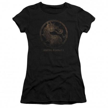 Mortal Kombat X Metal Seal Black Juniors T-Shirt