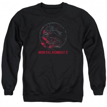 Mortal Kombat X Bloody Seal Black Crew Neck Sweatshirt