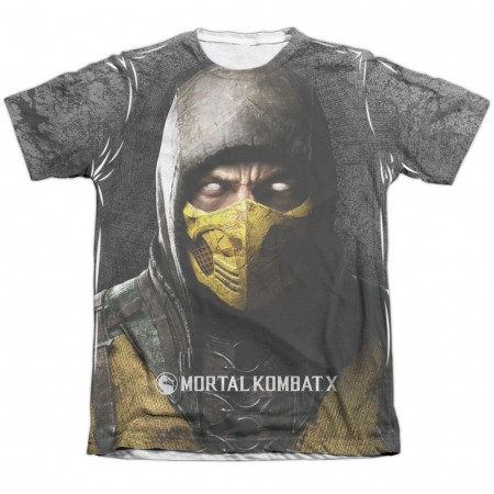 Mortal Kombat X Finish Him White Sublimation T-Shirt