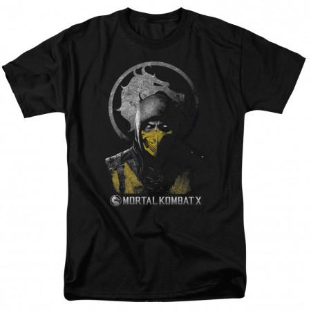 Mortal Kombat X Scorpion Bust Black T-Shirt