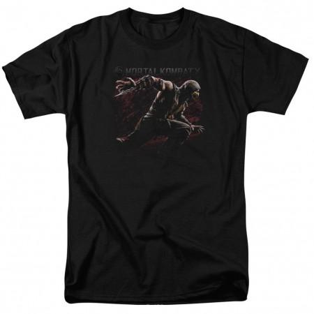 Mortal Kombat X Scorpion Lunge Black T-Shirt
