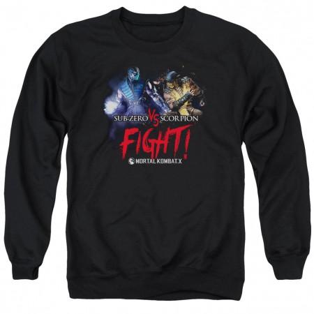 Mortal Kombat X Fight Black Crew Neck Sweatshirt