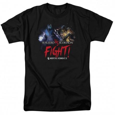 Mortal Kombat X Fight Black T-Shirt