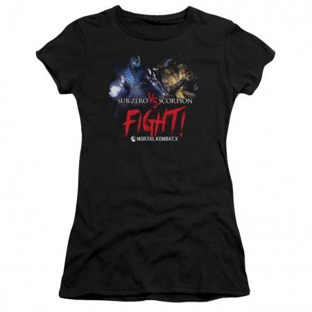 Mortal Kombat X Fight Black Juniors T-Shirt