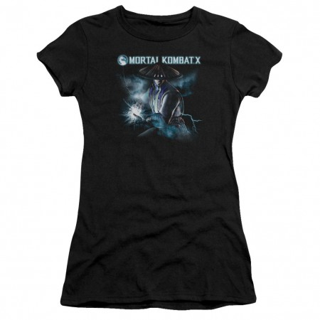 Mortal Kombat X Raiden Black Juniors T-Shirt