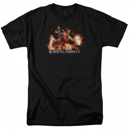 Mortal Kombat X Scorpio Flames Black T-Shirt