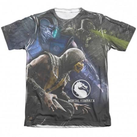 Mortal Kombat X Three Of A Kind White Sublimation T-Shirt