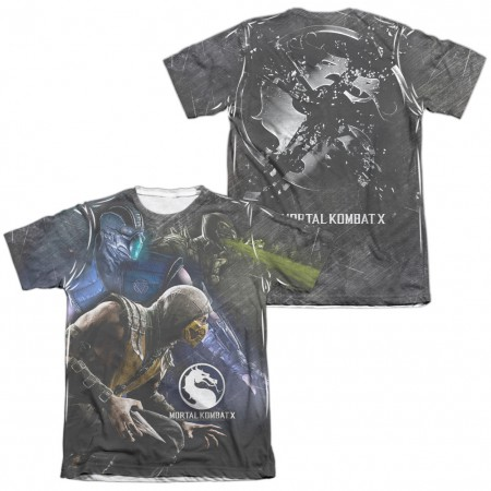 Mortal Kombat X Three Of A Kind  White 2-Sided Sublimation T-Shirt