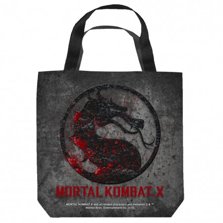 Mortal Kombat Logo Tote Bag