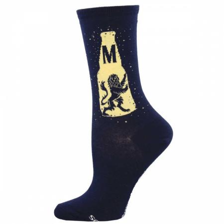 Modelo Especial Beer Bottle With Lion Women's Socks