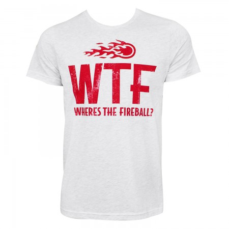Fireball Men's Heather Grey WTF Logo T-Shirt