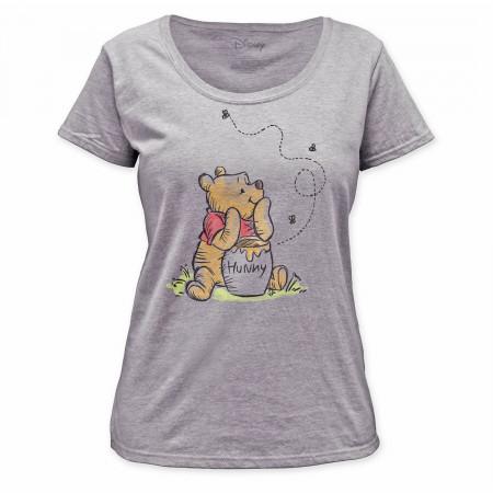 Winnie the Pooh Honey Jar Women's White T-Shirt