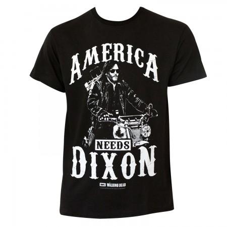 Walking Dead Men's Black America Needs Dixon T-Shirt