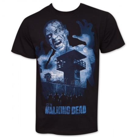 The Walking Dead Zombie Prison T-Shirt - Black