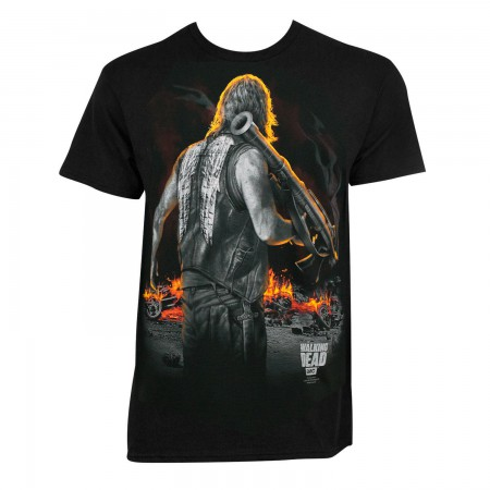 Walking Dead Men's Black Bazooka Daryl T-Shirt