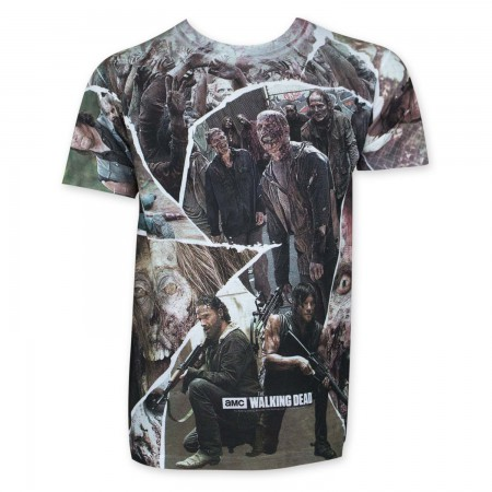 Walking Dead Character Panel Sublimated T-Shirt