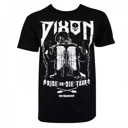 Walking Dead Men's Black Dixon Ride Or Die T-Shirt