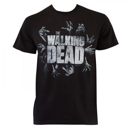 Walking Dead Men's Black Grabbing Hands T-Shirt