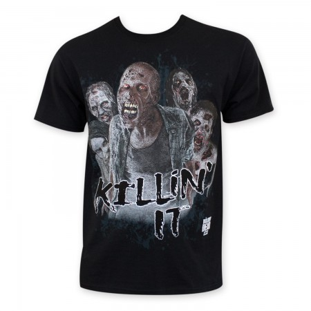 Walking Dead Men's Black Killin It Zombie T-Shirt